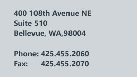 400 108th Avenue NE Suite 510 Bellevue, WA 98004
